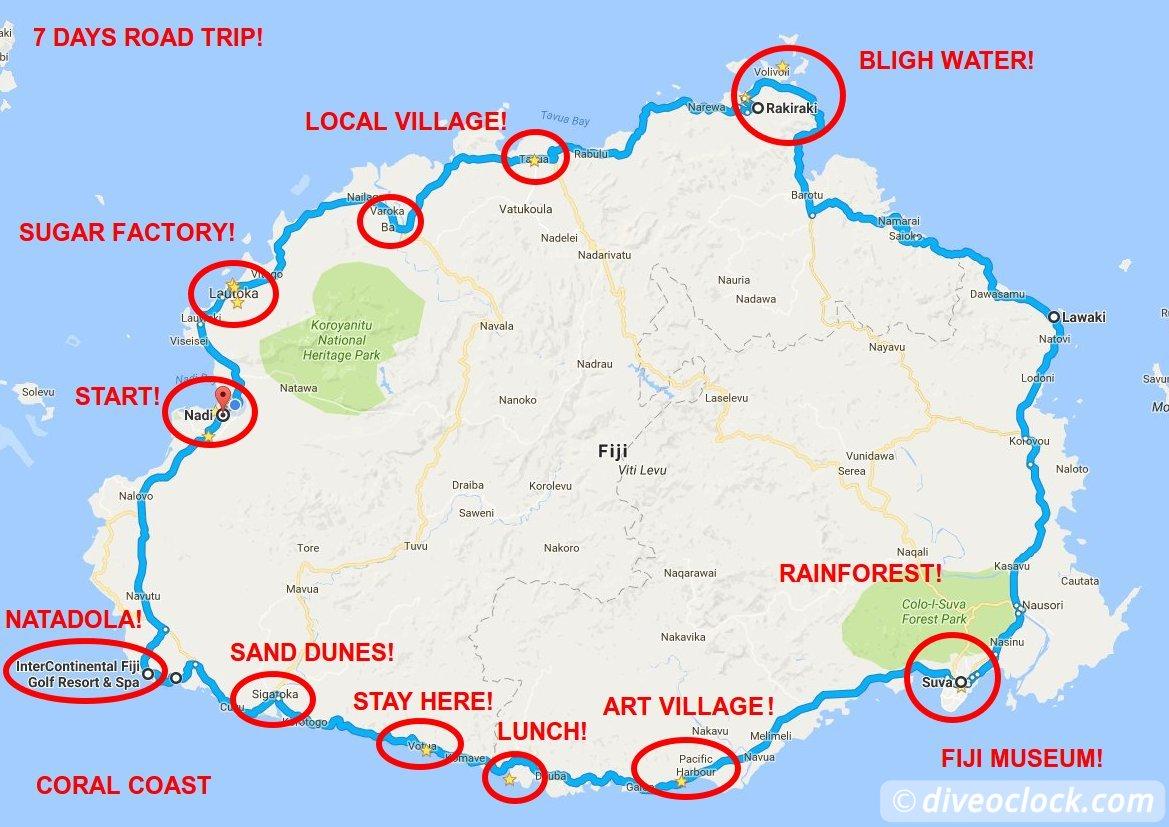 Fiji Road Trip on a Budget 7 Days Viti Levu Itinerary Dive oclock
