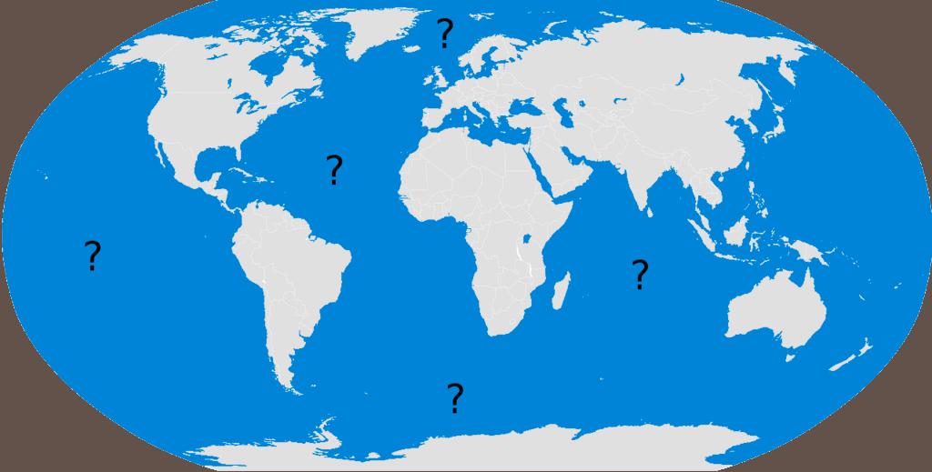 SCUBA QUIZ Oceans Dive Oclock - The five major oceans
